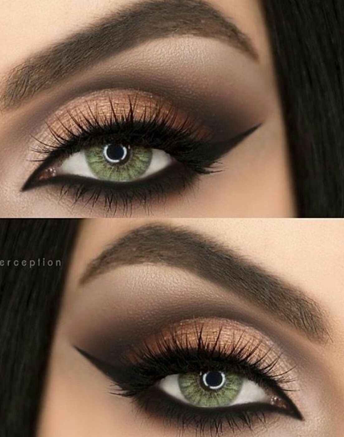 best colour for green eyes | almond eye makeup, green makeup