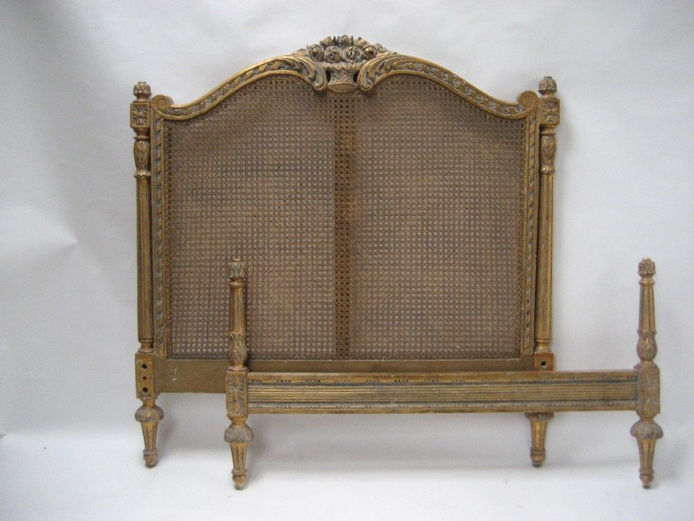 Stunning French Decorative Craved Bergere (canned ) Gilded