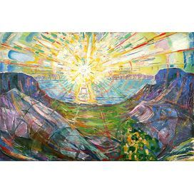 'The Sun, 1916 #2' by Edvard Munch Painting Print on Wrapped Canvas