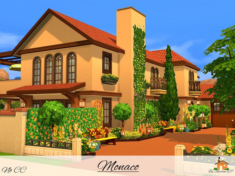 Monaco is  family home built on  lot in oasis springs found tsr category  sims residential lots also rh br pinterest