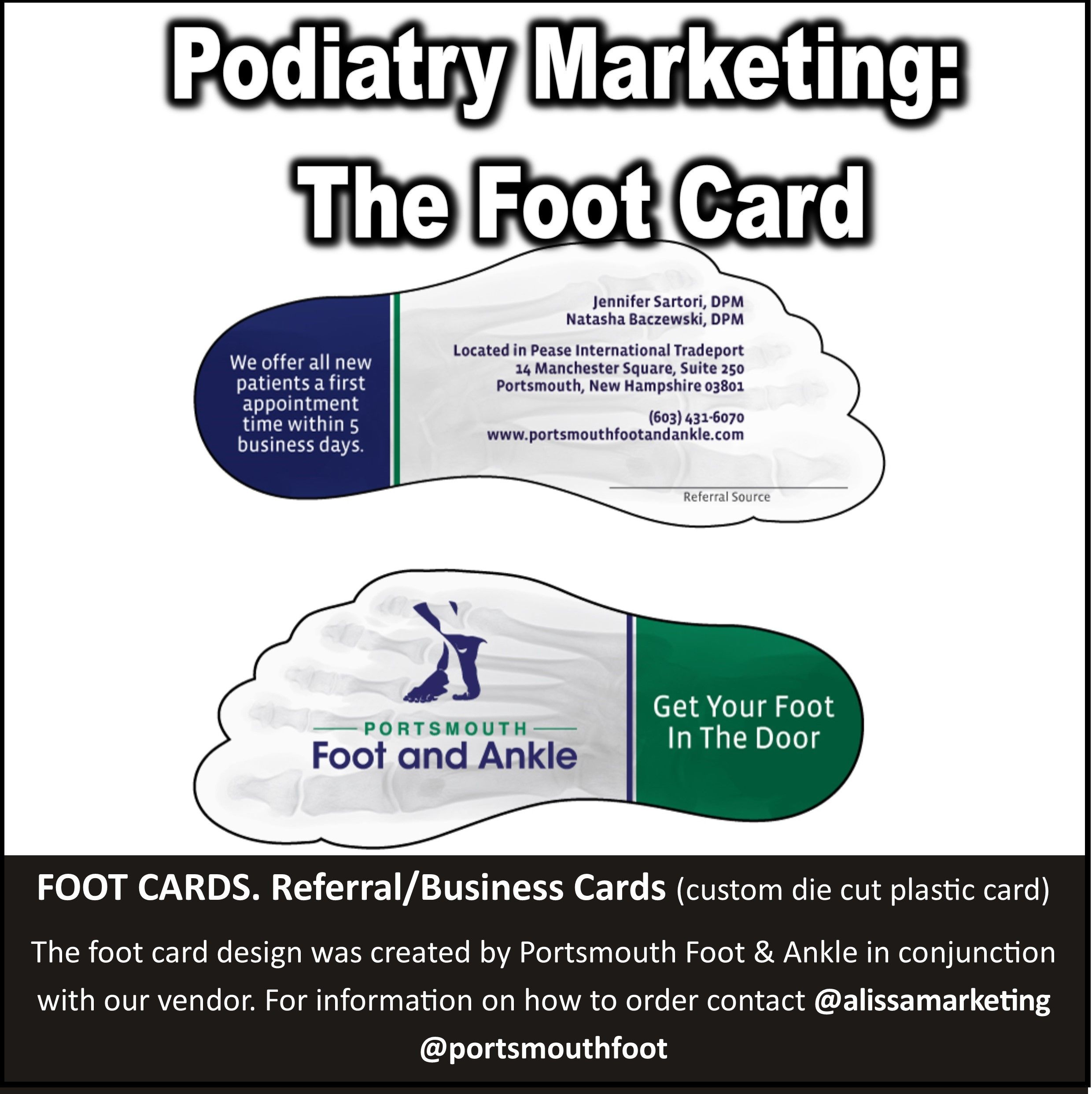 Foot cards referralbusiness cards custom die cut plastic card referralbusiness cards custom die cut plastic card the foot reheart Images