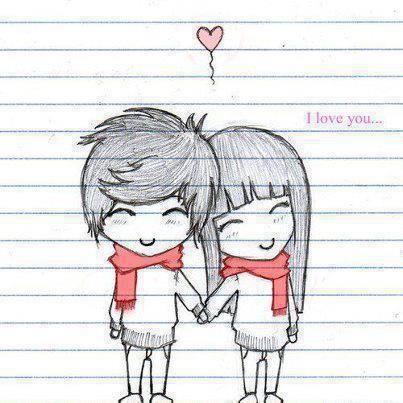 Pin By Mizuky Zukulyna On Anime Drawings Love Drawings Tumblr Cute Drawings Of Love Cute Couple Drawings