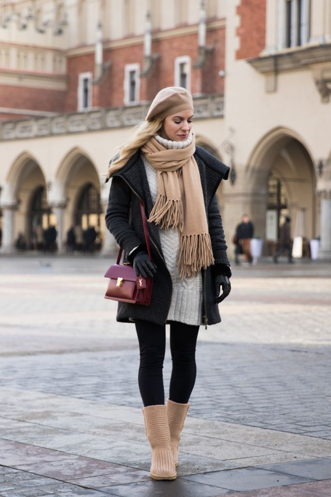 4528110791f Warm Layers in Kraków: Wool Coat, Cable Sweater & UGG Boots ...