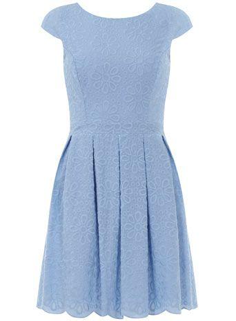 Blue broderie prom dress - Dorothy Perkins