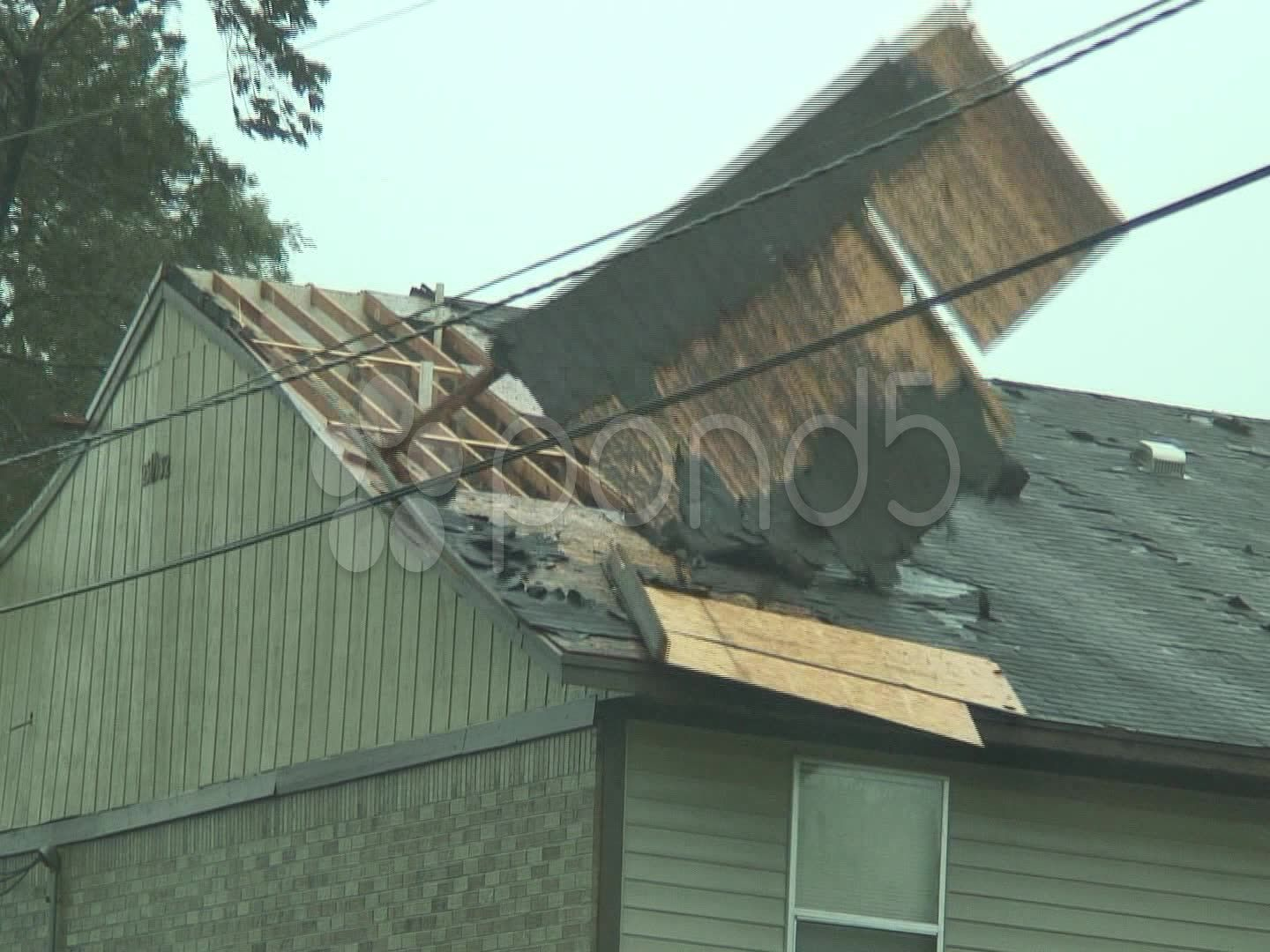 Hurricane Blows Off Roof Stock Footage Blows Hurricane Roof Footage Beach House Plans Roof Blow
