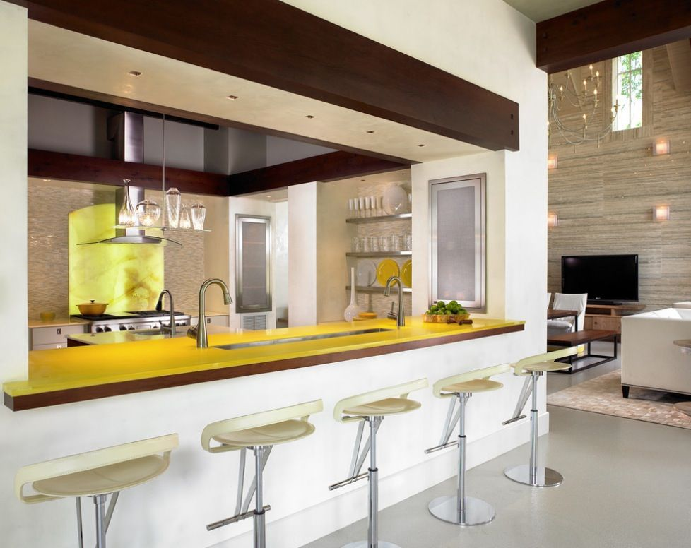 Summer color yellow kitchen bar what you can learn by adding home interior summer colors
