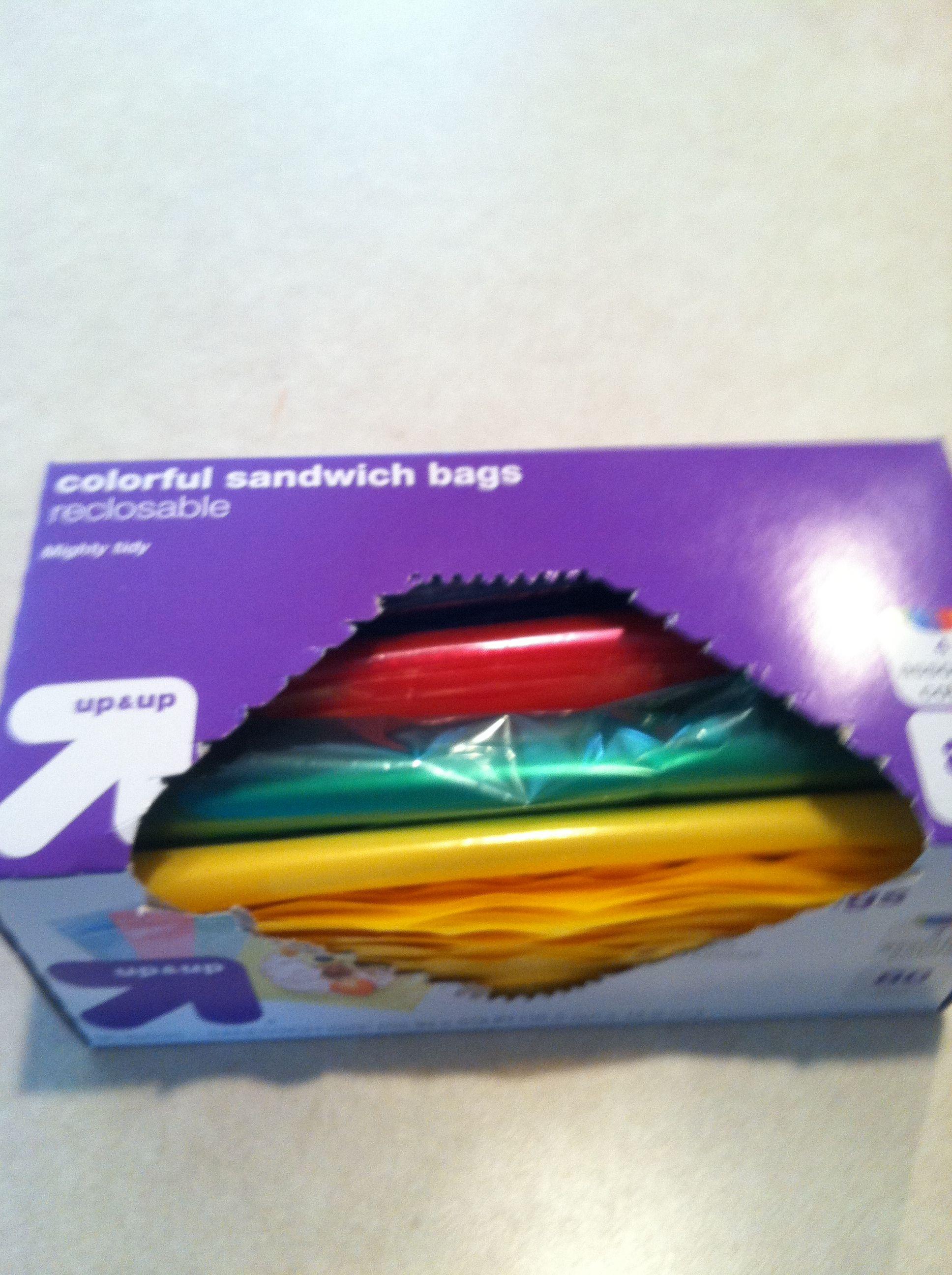 Colorful Sandwich Bags