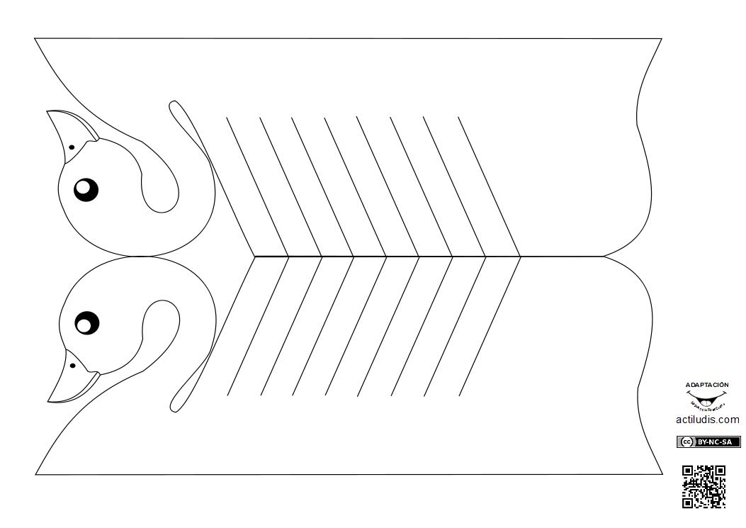 Cisne y paloma de papel - Actiludis