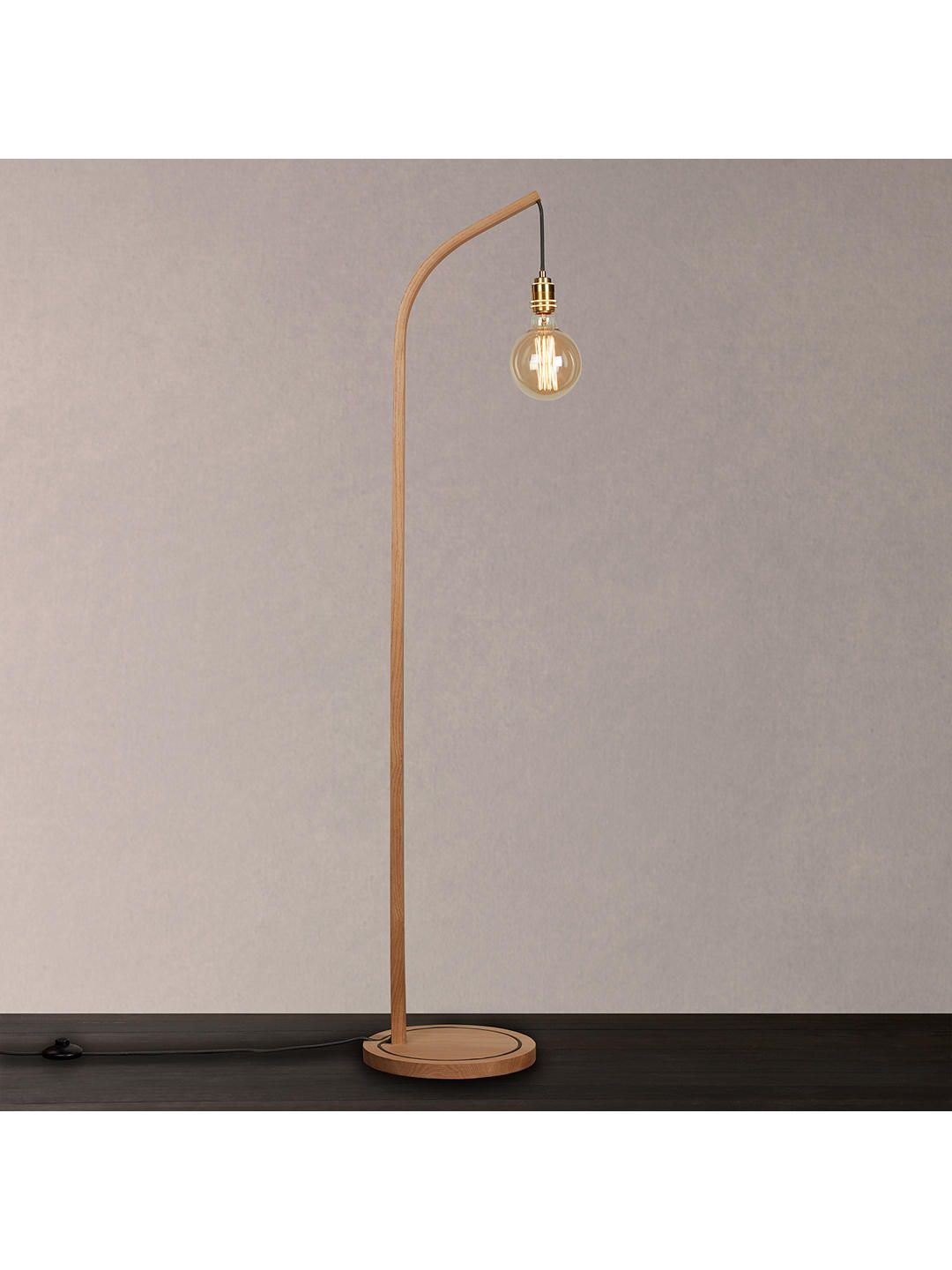 Tom Raffield Mooring Floor Light Oak With Images Floor Lights Oak Lamp Floor Lamp Lighting