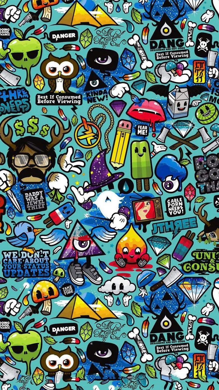 Hypebeast sticker wallpaper