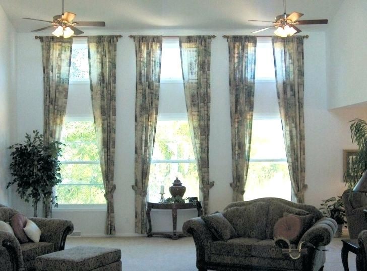 Image Result For 3 Windows Side By Side With Curtains In