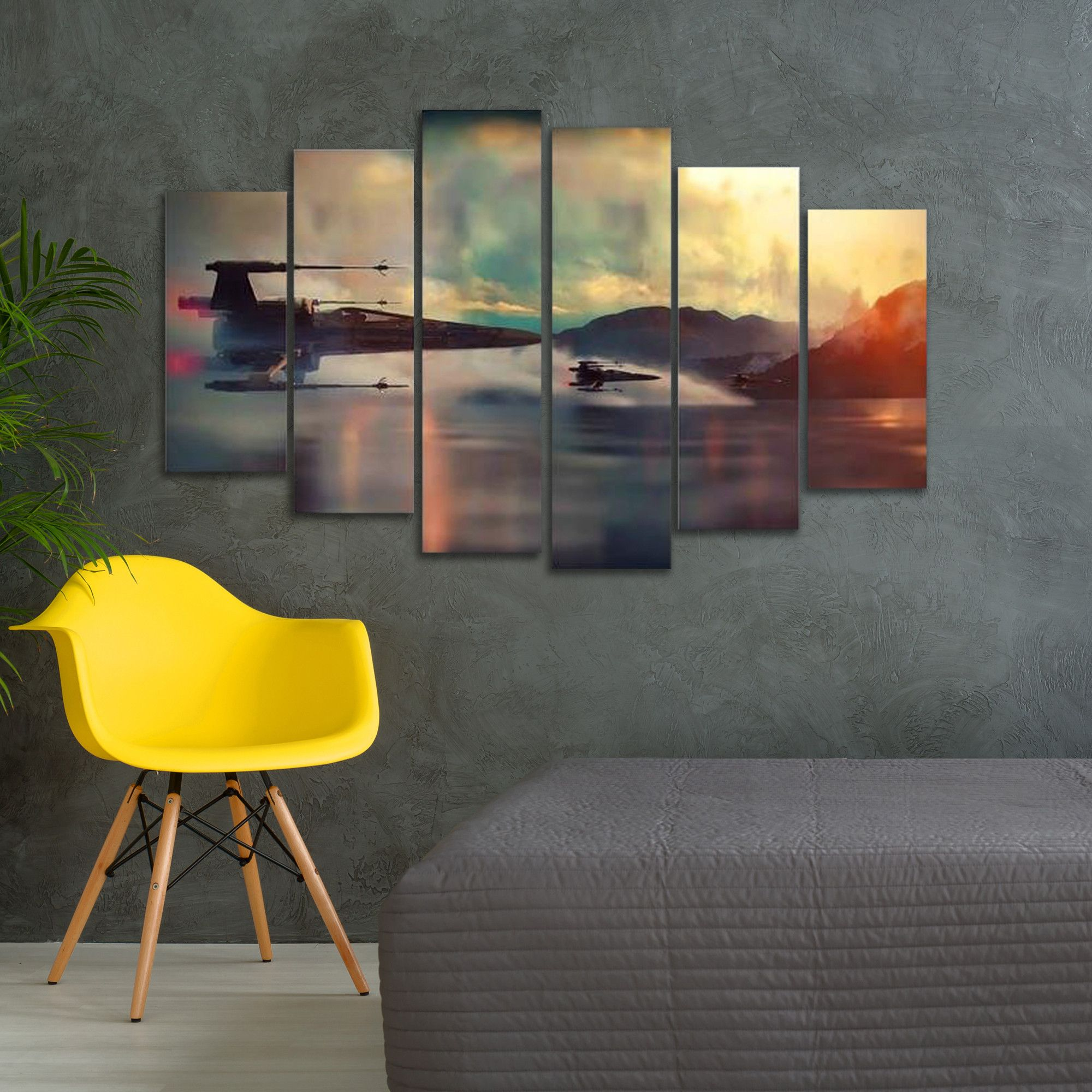 Resistance 6 piece canvas print gaze