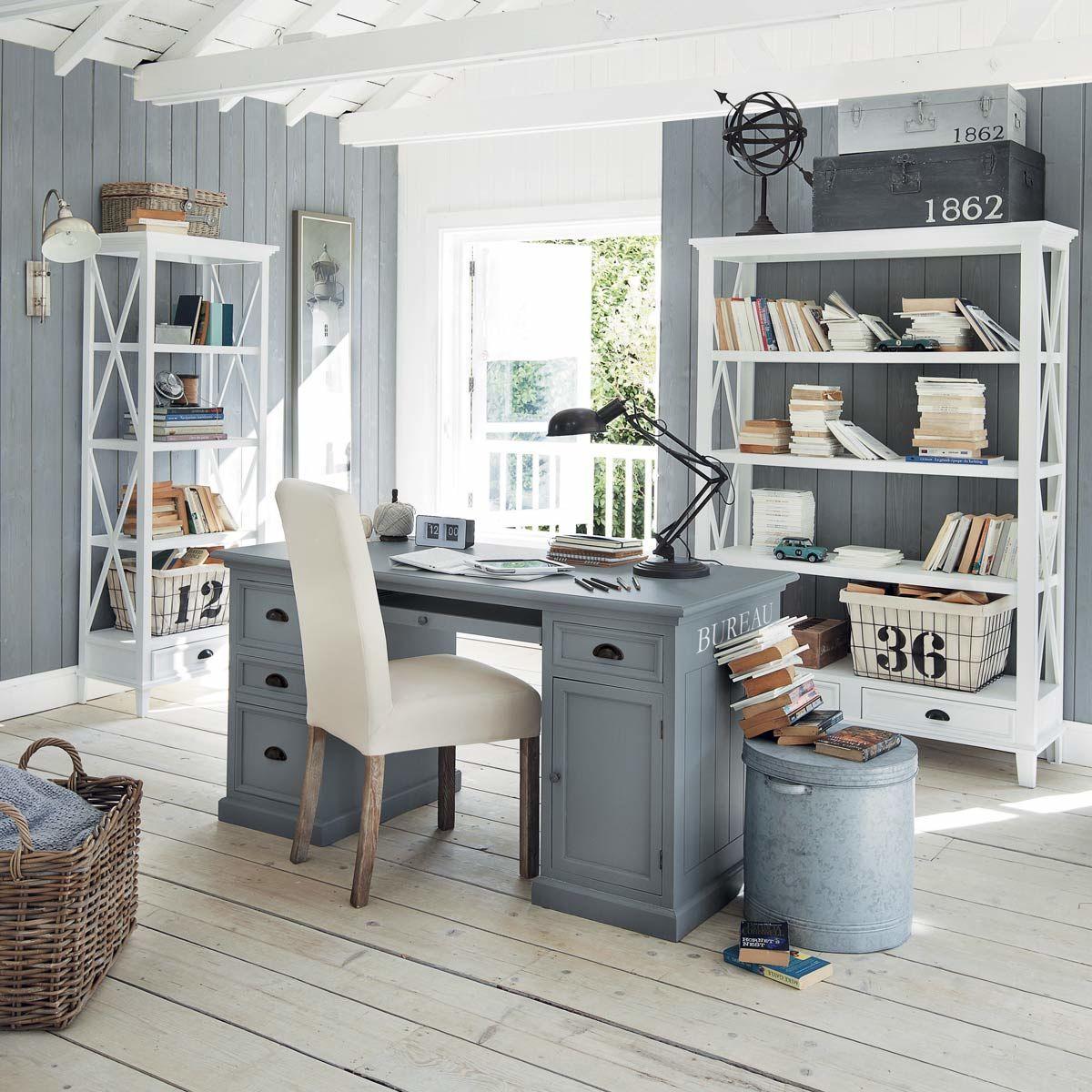 Wooden desk in grey W 150cm in 2019 | ξενωνας | Wooden desk, Home ...