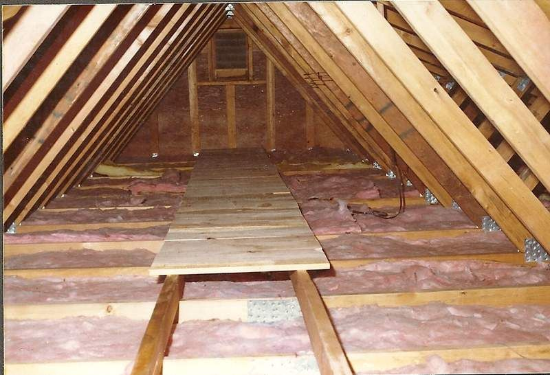 2x6 And Boards For Catwalk Over Loose Insulation Idea