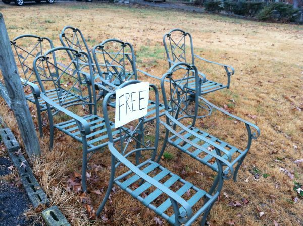 Wrought Iron Patio Chairs. $0.