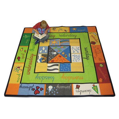 Superb Kids Childs Rug Clock Design Large Round 1 33m X 44 Rox The Good Company
