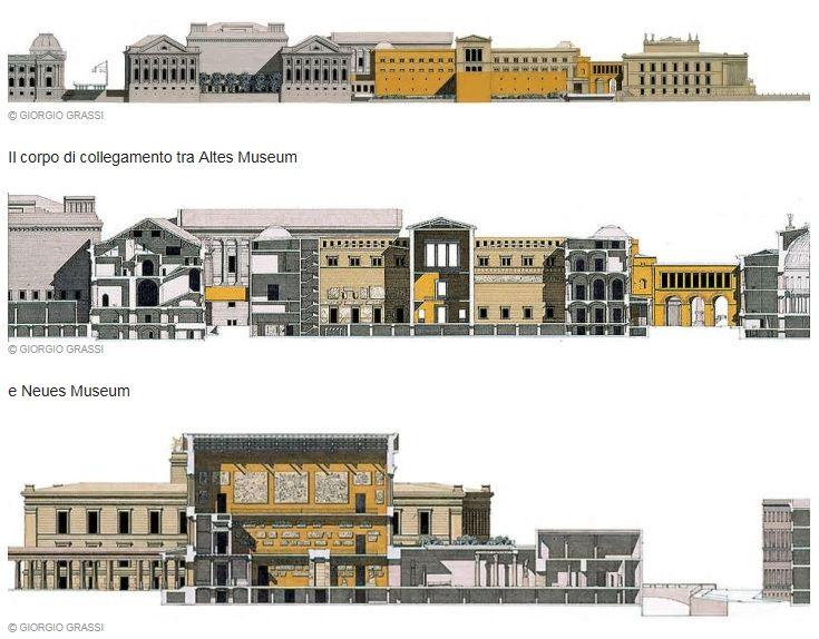 Neues Museum E Completamento Della Museumsinsel Berlin Germany 1995 Giorgio Grassi Architettura Grafici Progetti Architettonici