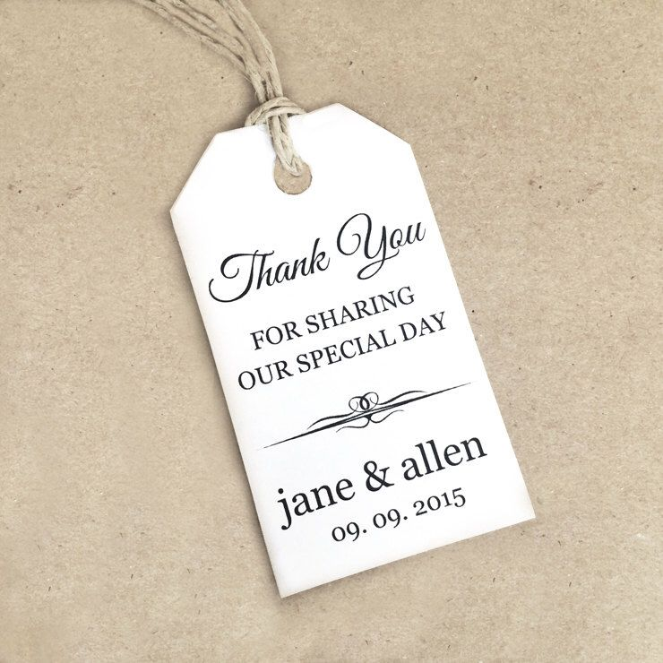 Thank You Tag Template ~ SMALL - DIY Printable Favor Tag ~ Gift Tag ...