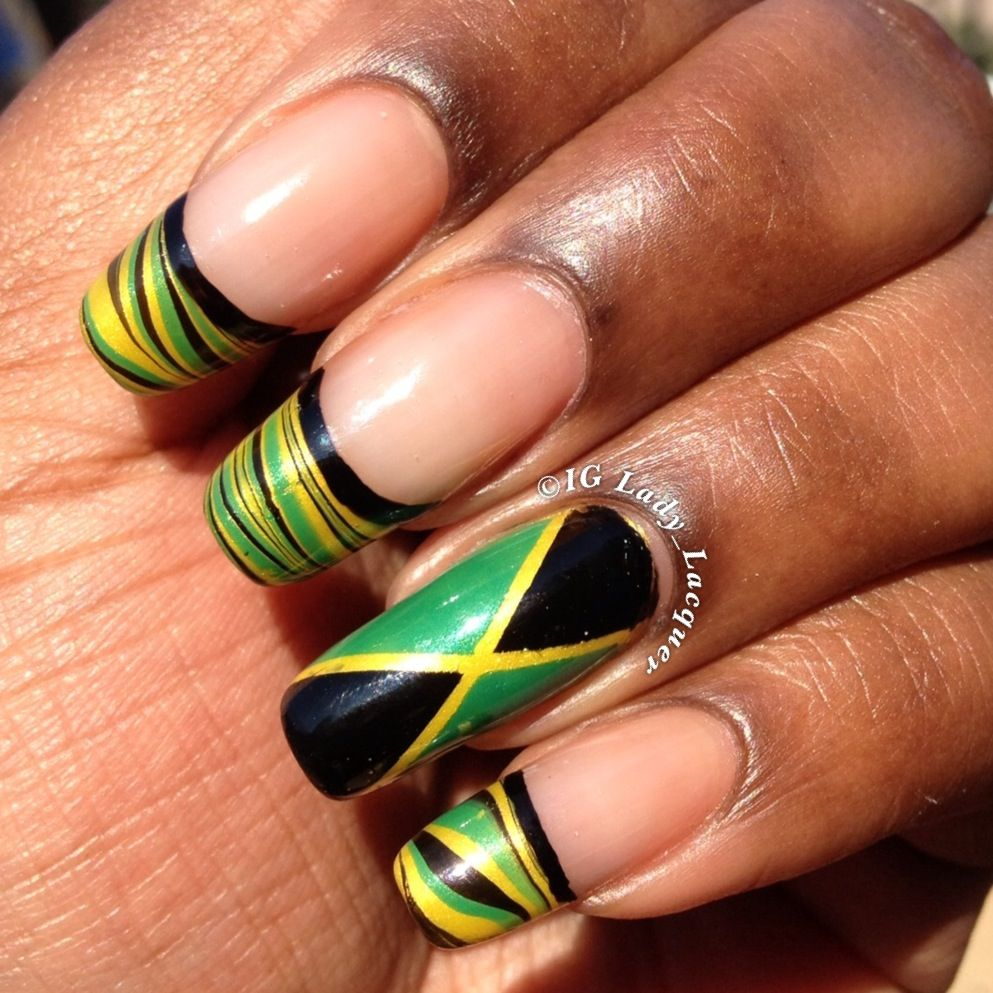 Jamaica's Emancipation Day Nails 2013 | Lady Lacquer - Jamaica's Emancipation Day Nails 2013 Jamaica Nails, Manicure