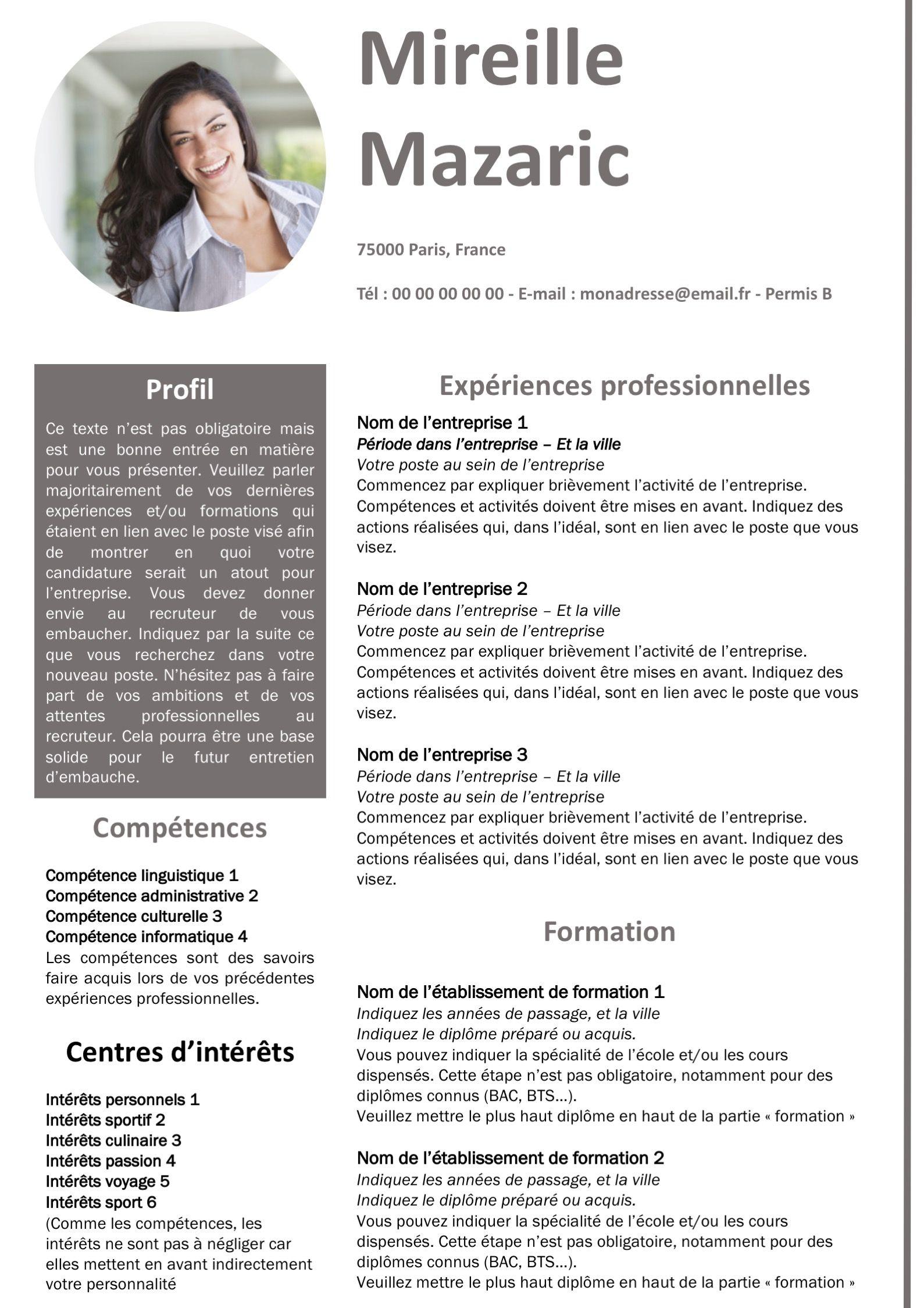 Modele De Cv Design Par Competences Format Word Modele De Cv Design Lettre De Motivation Modele Cv