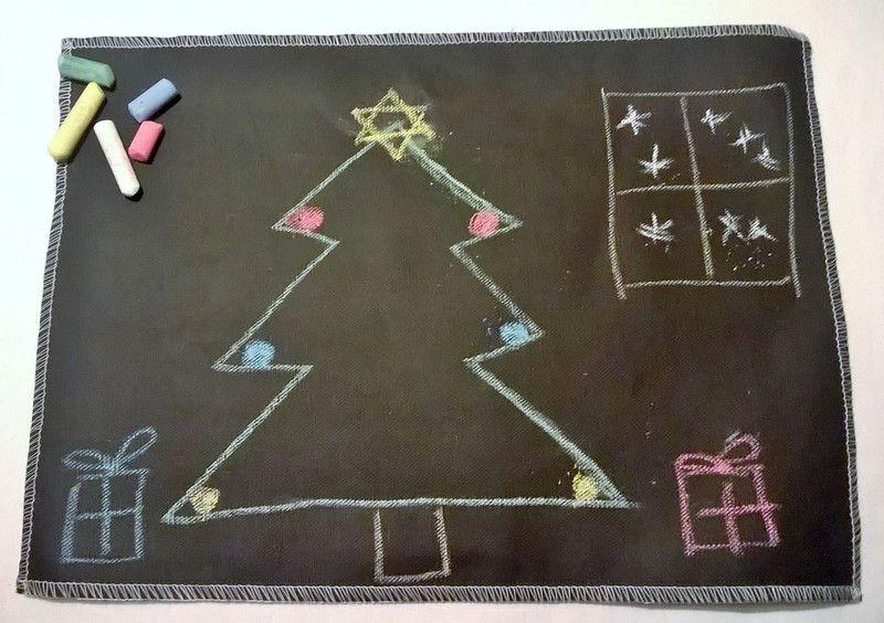 Tovagliette - Tovalietta lavagna chalkboard riutilizzabile - un prodotto unico di vestobio su DaWanda