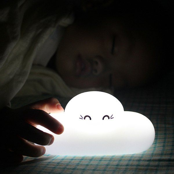 Stylish Bedside Lamp Cartoon Cloud Shape Touch Sensing Led Night Light Home Garden Look Woman Bedside Lamp Cloud Shapes Led Night Light