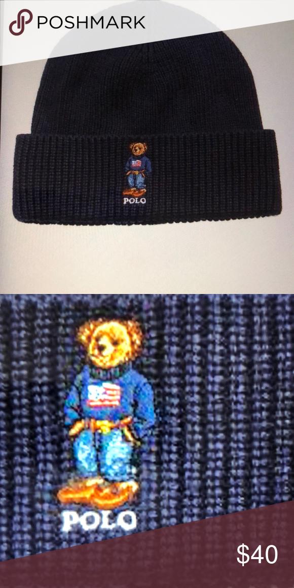 NWT - Polo Men s Bear Cuffed Hat - Sharp !! NWT - Polo Ralph Lauren s cc93bef9fad