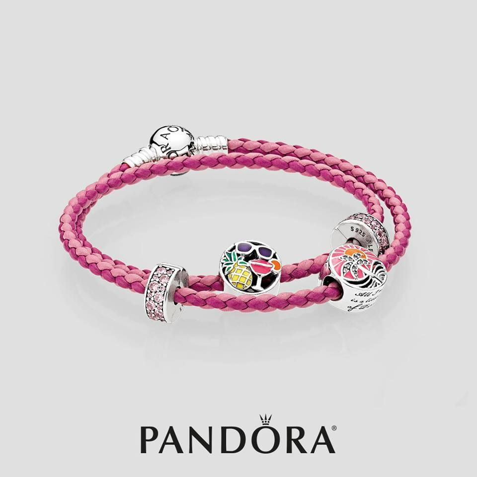 Create a vibrant look to accent any summer outfit with pandora