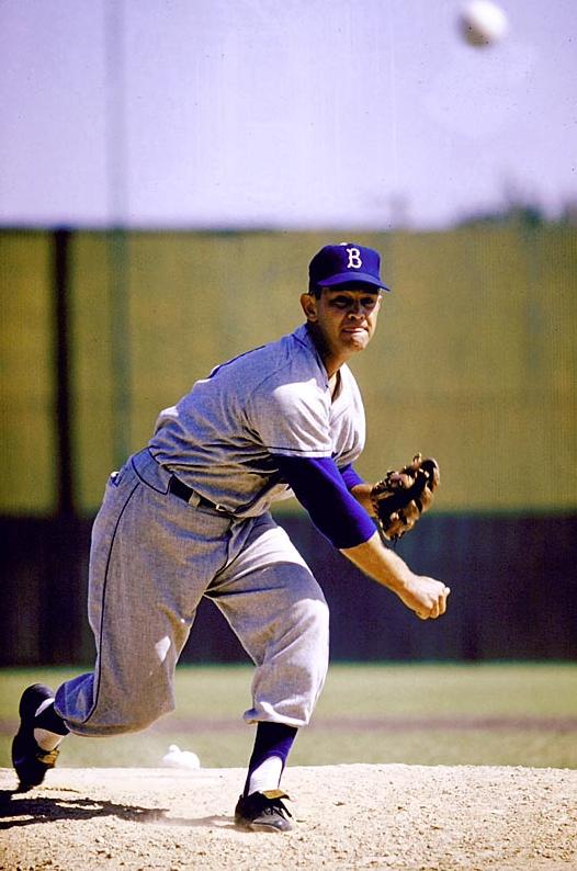 Clem Labine 1957 Vintage Sports Pictures Major League Baseball Players Baseball Pitcher Dodgers