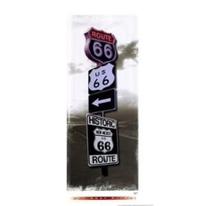 Signs of Route 66 I Poster Print by John Jones (10 x 20)