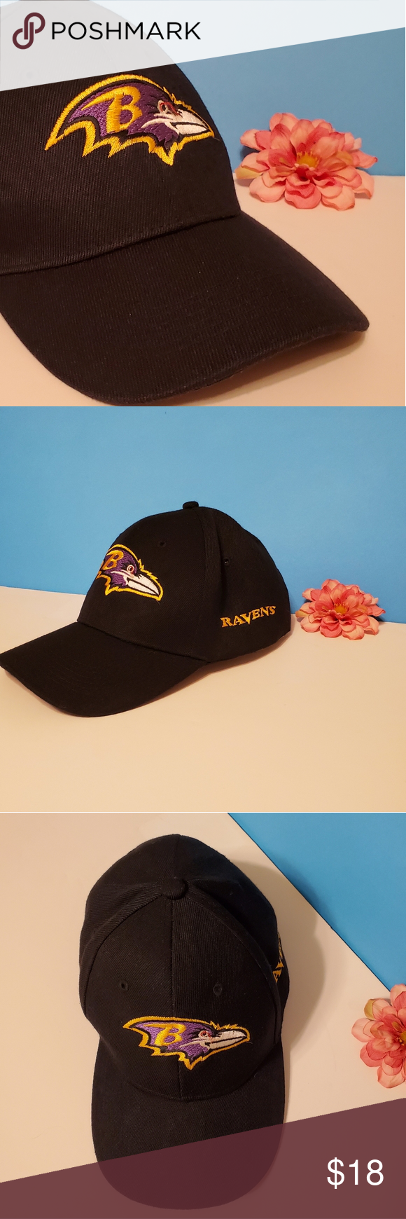 Black NFL Baltimore Raven Hat with Team Logo in 2020