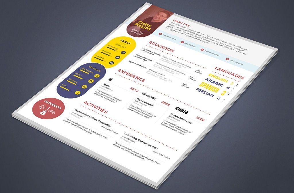 cool 15  best free resume    cv templates psd