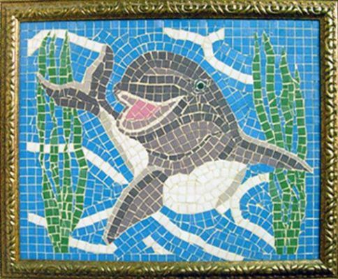 Dolphin mosaic | Dolphin & Turtle