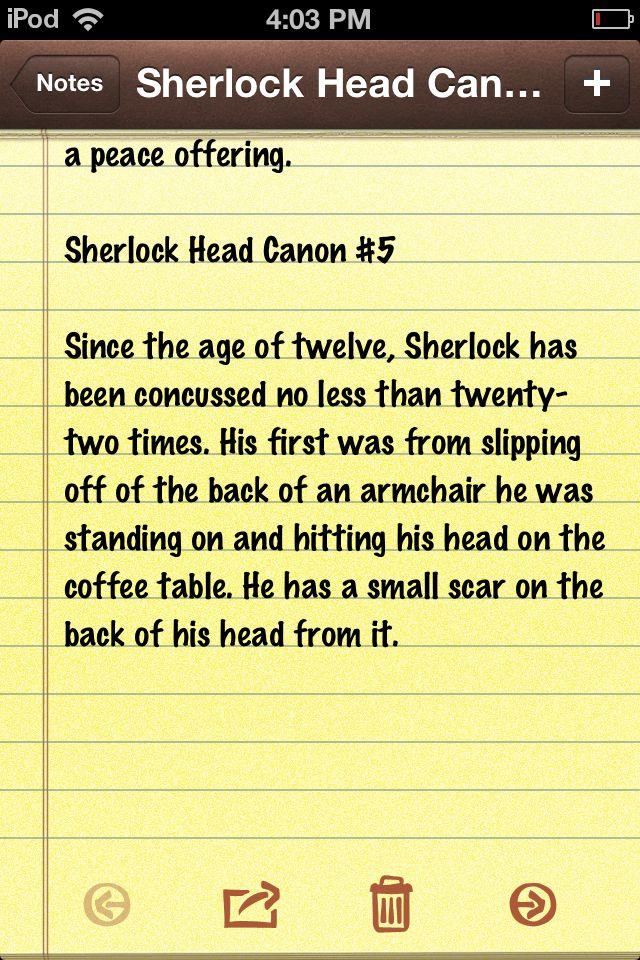 Sherlock Head Canon #5