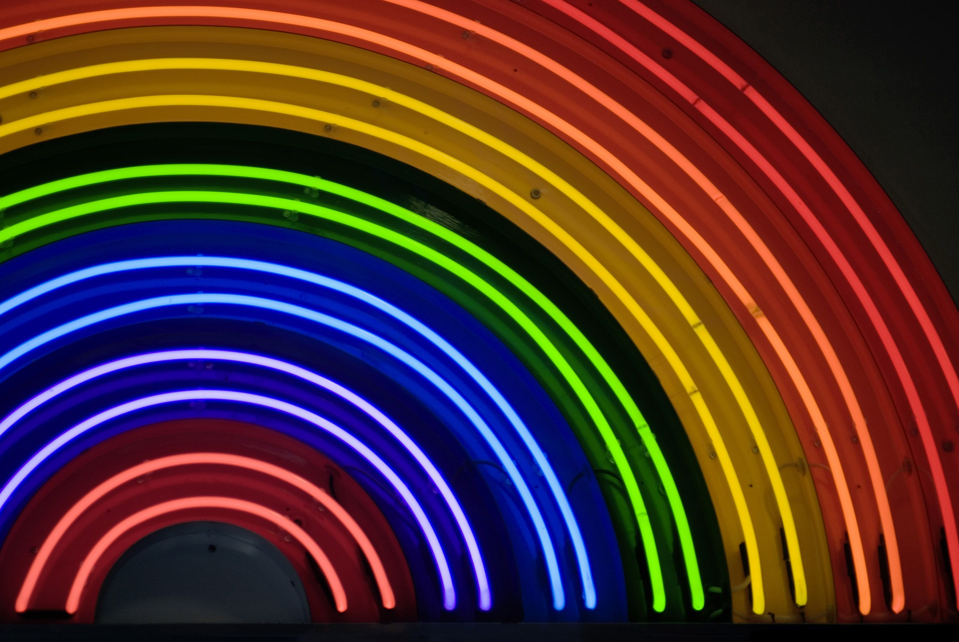 Rainbow Neon Sign With Images Neon Rainbow Rainbow Wallpaper