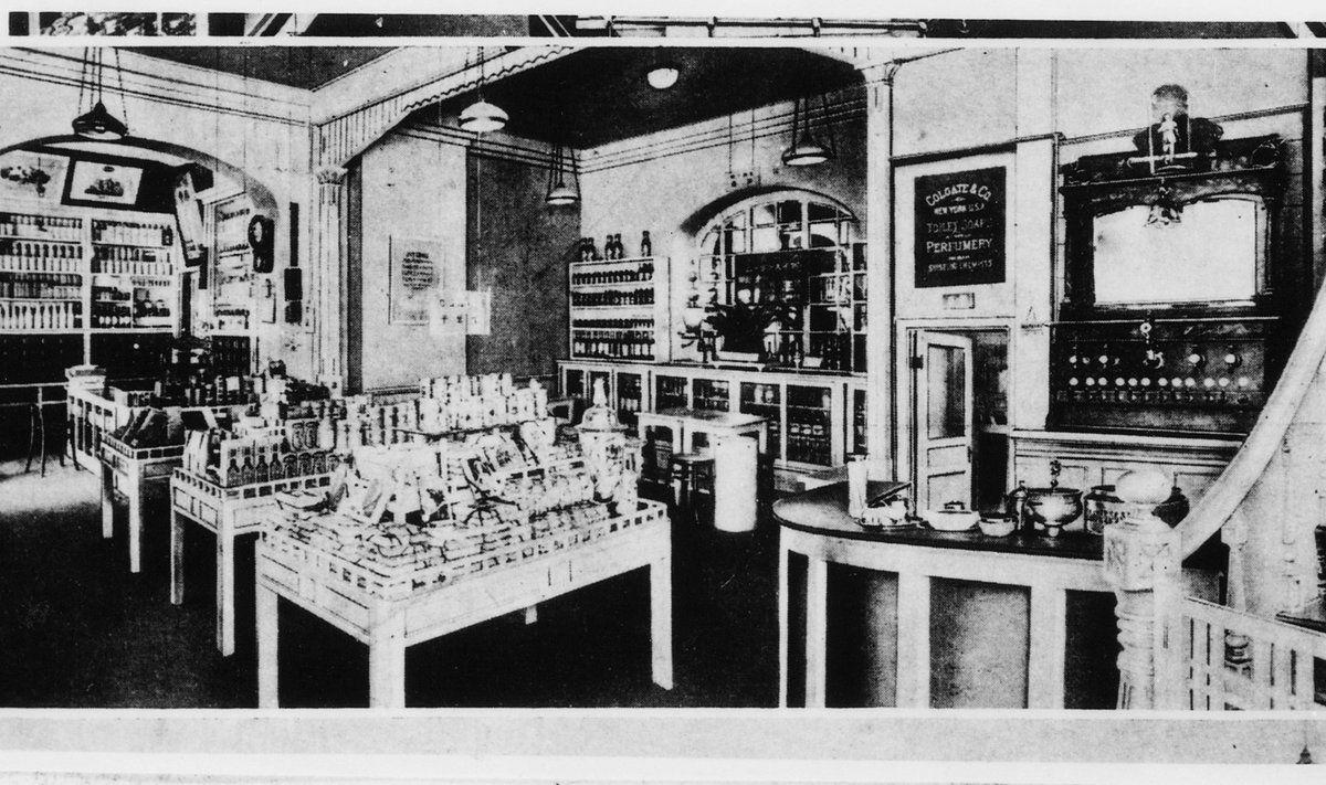 大正13年(1922年)の資生堂ソーダファウンテンの店内 | ソーダ ...