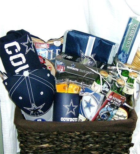dallas cowboy gift basket