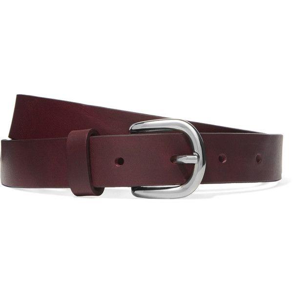 Zap Leather Belt - Camel Isabel Marant
