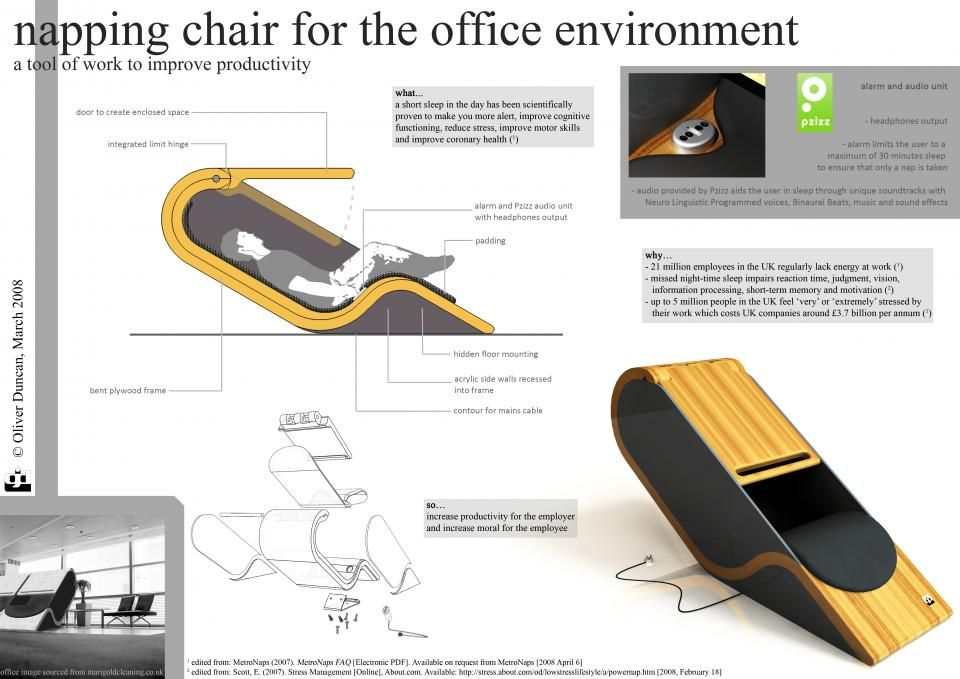 Captivating Unique Office Environments | Napping Chair For The Office Environment |  Noise