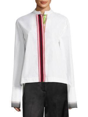 DIANE VON FURSTENBERG Collared Cotton Button-Down Shirt. #dianevonfurstenberg #cloth #