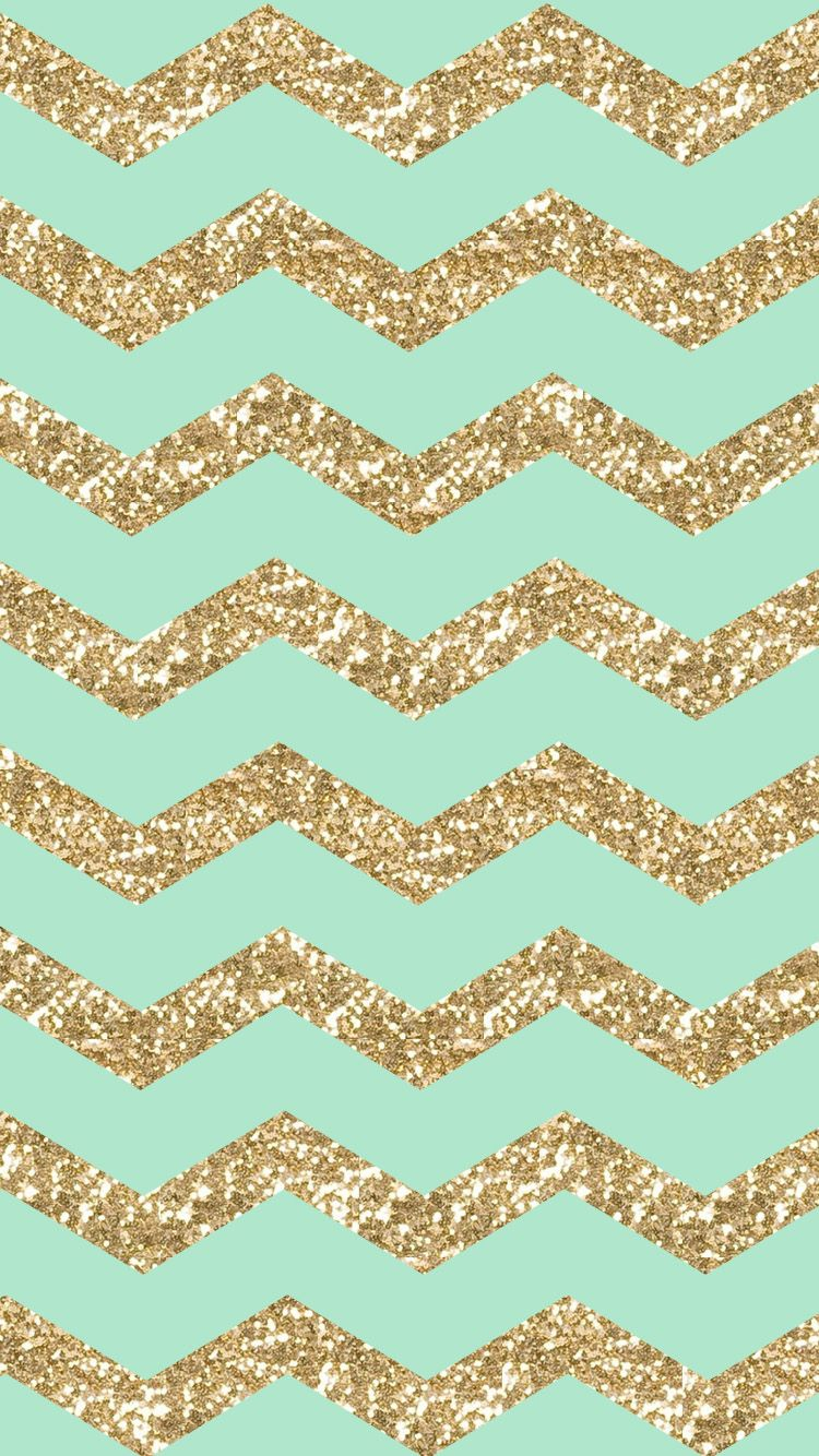 shining pattern zigzag cute stylish girly gold glitter sparkle bright for girls mint cool hd iphone 6 wallpaper