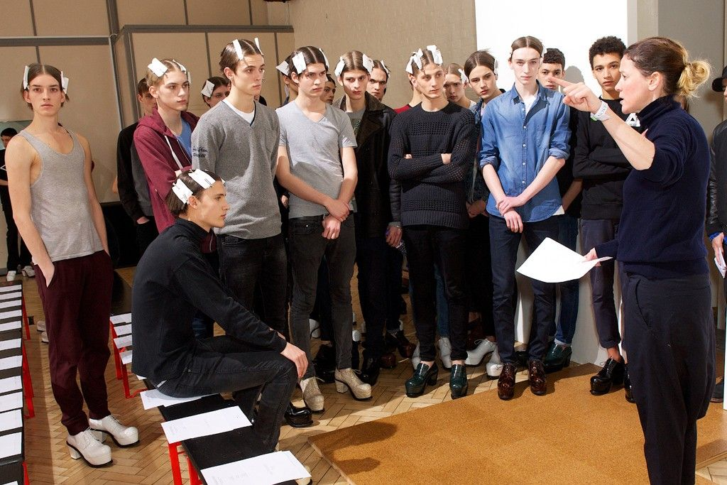 Backstage at JW Anderson Men's Fall 2014