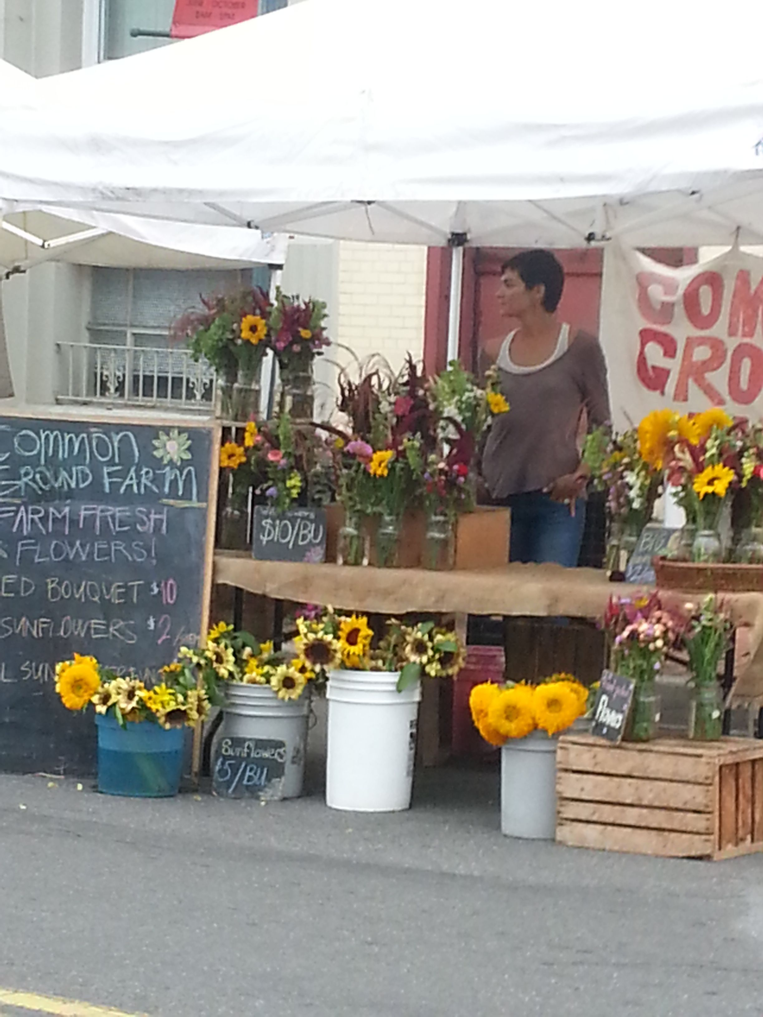 Common Ground flower stand