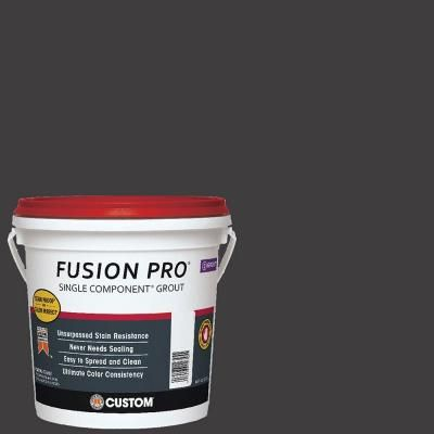 Custom Building Products Fusion Pro 60 Charcoal 1 Gal Single Component Grout Fp601 2t The Home Depot Room Paint Grout Color Accent Wall Paint