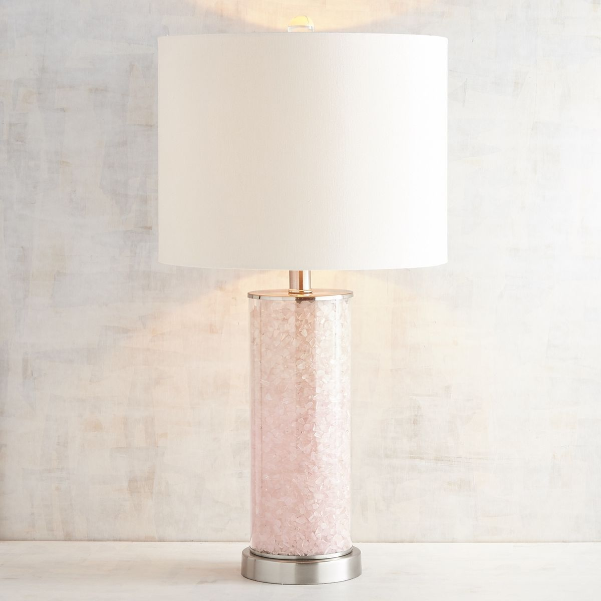 Pink Quartz Table Lamp Pier 1 Imports Pink Lamp Room Lamp Table Lamp