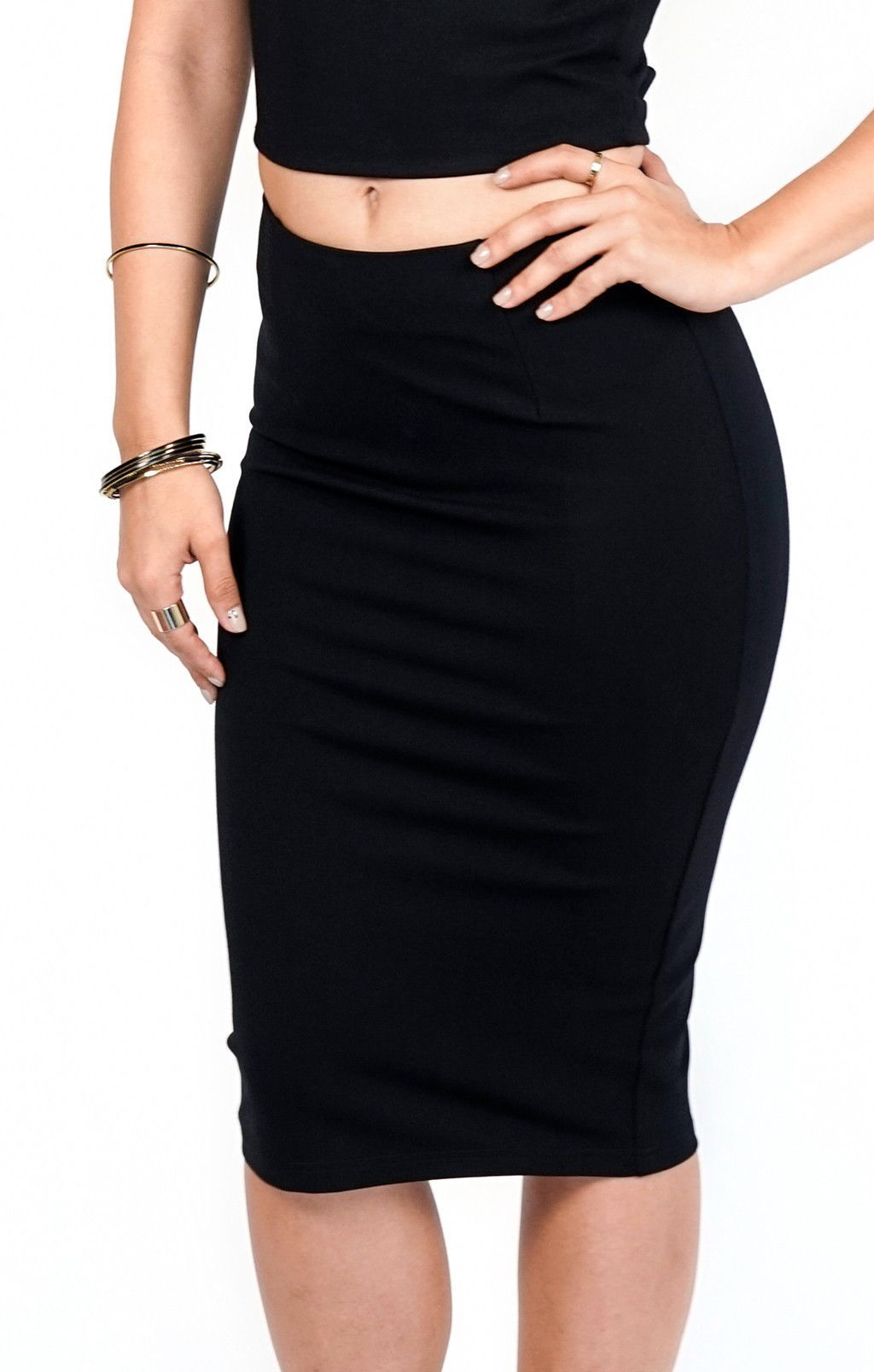 5fce1d32e8 EDITOR'S NOTES & DETAILS Black body fitted pencil skirt - 60% Cotton - 36%  Polyamide - 4% Spandex