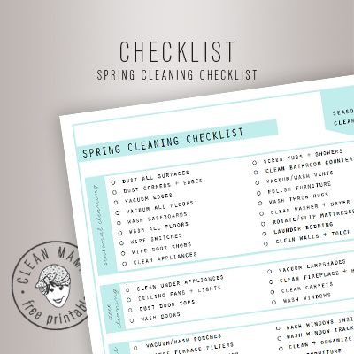 Cleaning Checklist How To Enjoy Deep Cleaning Your House Free - Sample Spring Cleaning Checklist