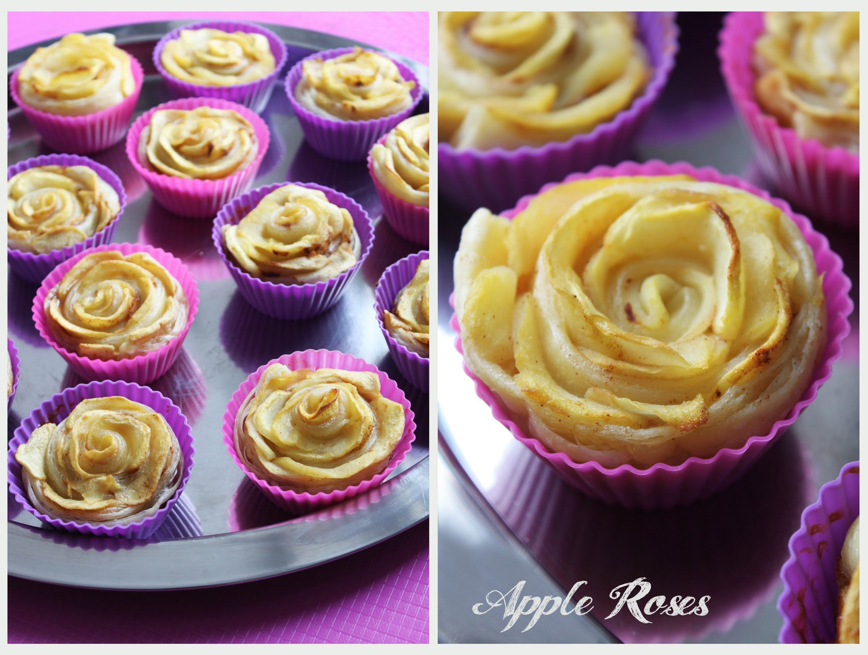Apple Roses Apfel Cupcakes als Rosen | Danis Cupcakes #apfelcupcakes