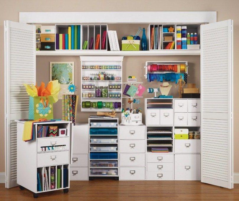 Craft Room In A Big Closet Interer Dlya Doma Prostranstva