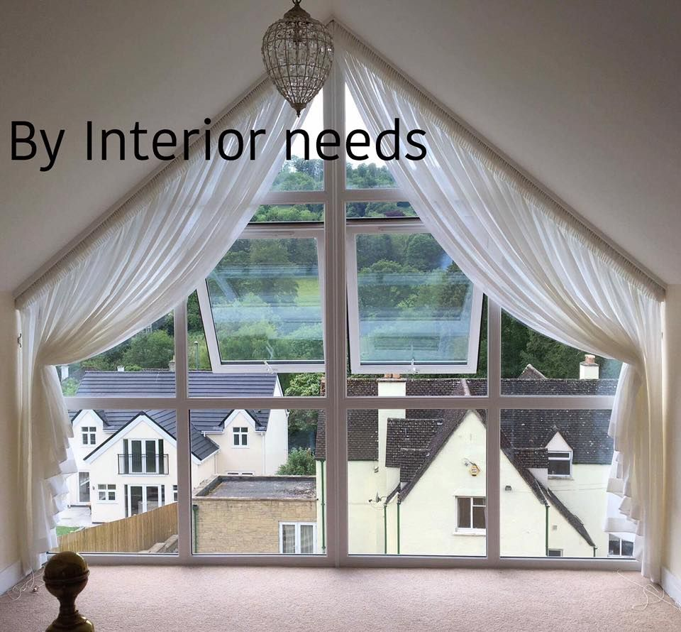 Dormer Window Curtains: Italian Stringing On Voiles At An Apex Window By Interior